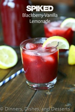 Spiked Blackberry Vanilla Lemonade Recipe
