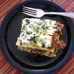Spinach and Cheese Beef Lasagna