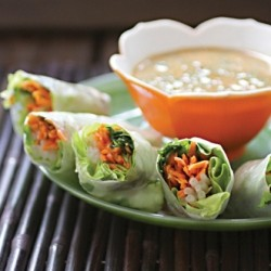 Spring Rolls with Spicy Sauce Recipe