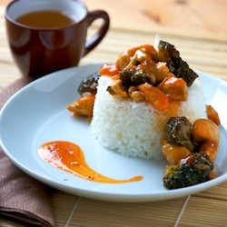 Sweet and Spicy Chicken Stir Fry and Recipes from the Pantry