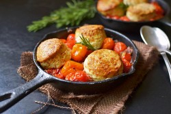 Tomato Cobbler with Rosemary Gruyere Biscuits Recipe