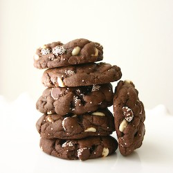Triple Chocolate Chip Cake Batter Cookies Recipe