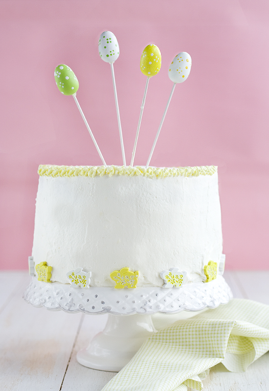Vanilla Layer Cake for Easter