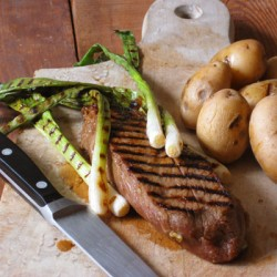 Worcestershire marinated Strip Steak