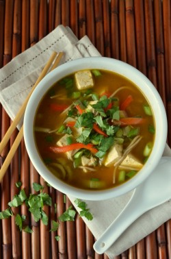 Asian Noodle Soup To Cure a Cold