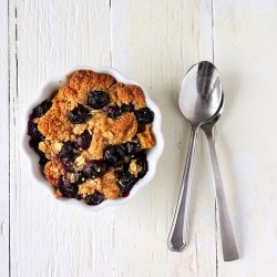 Baked French Toast with Blueberry Crisp