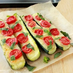 Baked Zucchini with Mozzarella and Cherry Tomatoes Recipe