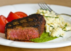 Beef Tenderloin Filets with Chimichurri Recipe