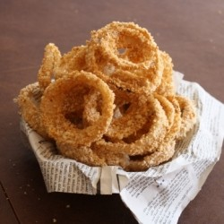 Beer Battered Onion Rings Vegan Recipe