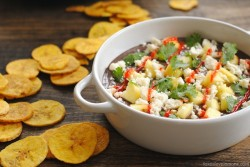 Black Bean Dip with Plantain Chips Recipe