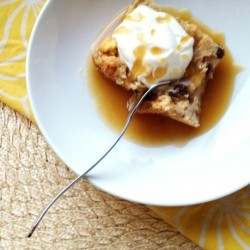Bread Pudding with Rum Butter Sauce