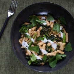 Broccoli Rabe Cavatelli Pasta with Harissa Yogurt