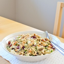 Brown Rice Grapes and Feta Salad