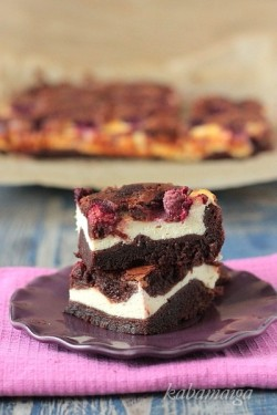 Cheesecake Raspberries Brownies Recipe