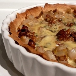 Chicory Walnut Stilton Tart