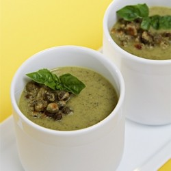 Chilled Roasted Zucchini Soup Recipe