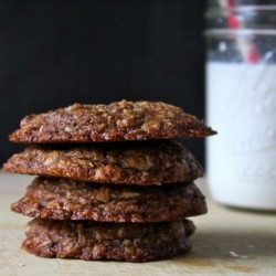 Coconut Oil Espresso Oatmeal Cookies