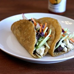 Crispy Black Bean Tacos with Feta and Slaw Recipe