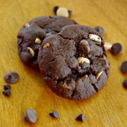 Dark Chocolate Peanut Butter Pretzel Cookies Recipe