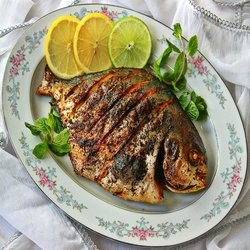 Deep fried Pomfret