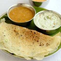 Dosa with Onions Recipe