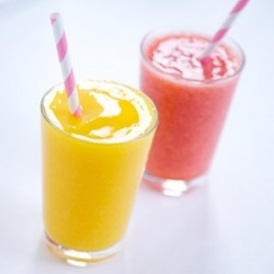 Fresh Fruit Fizz Slushies Recipe