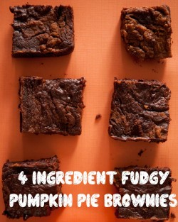Fudgy Pumpkin Pie Brownies Recipe