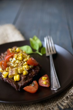Grilled Balsamic Skirt Steak with Grilled Corn Recipe