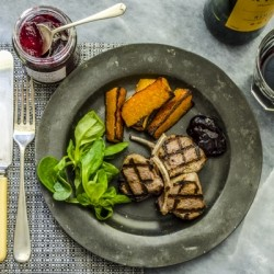 Grilled Lamb with Butternut Squash Recipe