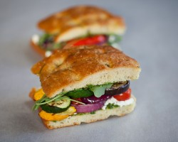 Grilled Vegetable Pesto Sandwiches Recipe