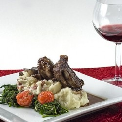 Guinness Braised Short Ribs with Smashed Potatoes
