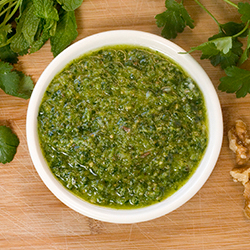 Herb Pesto with Naan