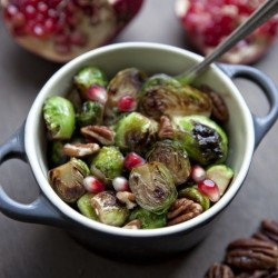 Honey pomegranate Glazed Roasted Brussels Sprouts Recipe