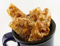 Honey Sesame Cashew Brittle