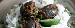 Indian Spice Stuffed Eggplant