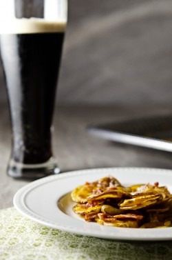 Irish Nachos with Guinness Glazed Onions Recipe