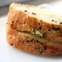 Italian Bread with Garlic Herbs and Olives