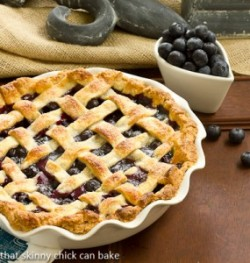 Lattice Topped Blueberry Pie Recipe