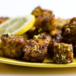 Lemon Pepper Tempeh Croutons