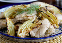 Lemon Roasted Chicken Thighs with Fennel Recipe