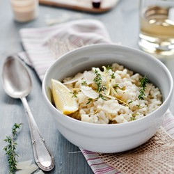 Lemon Thyme and Fennel Risotto
