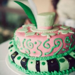 Mad Hatter Themed Bridal Shower Cake