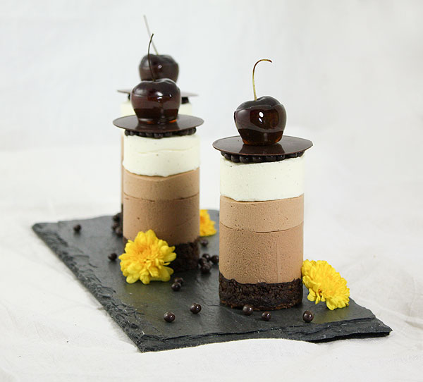 Mini Triple Chocolate Mousse Cakes Recipe