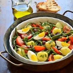 Nicoise Pepper and Misticanza Salad Recipe