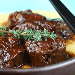 Oxtails with Lemon Polenta Ming Tsai