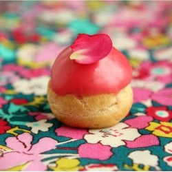 Pate Choux with Rose and Raspberry Creme Legere