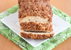 Pecan Ice Cream Bread with Cinnamon Pecan Streusel Recipe