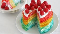 Rainbow Crepe Cake Recipe