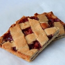 Raspberry Linzer Bars