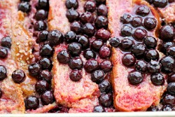 Rhubarb Blueberry and Ginger Bread Pudding Recipe